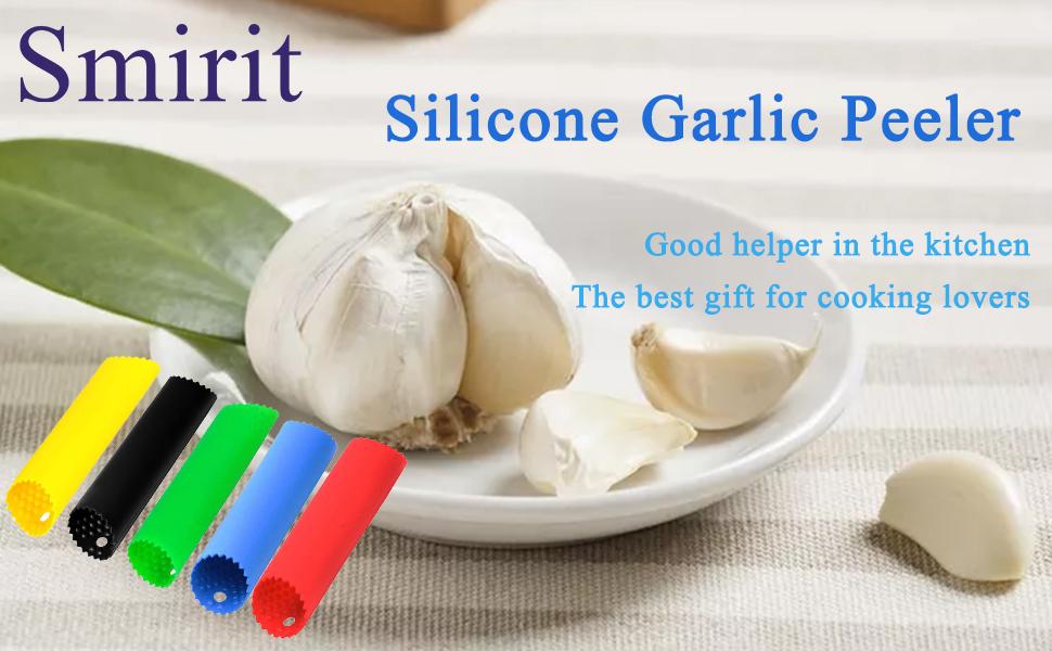 garlic peeler silicone roller tube peel slicer set thumb black skin peelers
