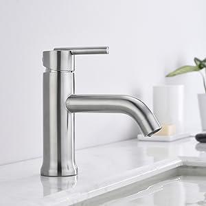 bathroom faucet brushed nickel