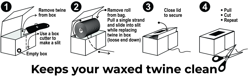 WAXED Twine dispenser box modification instructions