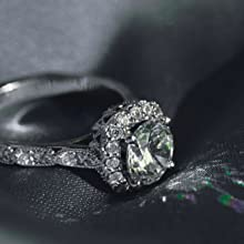 Facets Jewels Moissanite Diamond Rings for engagement women gifting girlfriend best friend