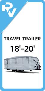 18'-20' Travel Trailer RV Cover