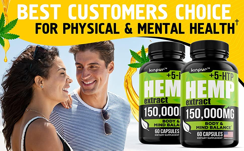 (2 Pack) Premium Hemp Oil Capsules for Discomfort Recovery with Omega 3, 6, 9