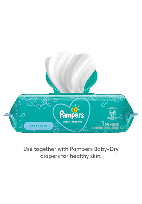 Pampers Wipes Baby Fresh - Use together with Pampers Baby-Dry diapers for healthy skin.