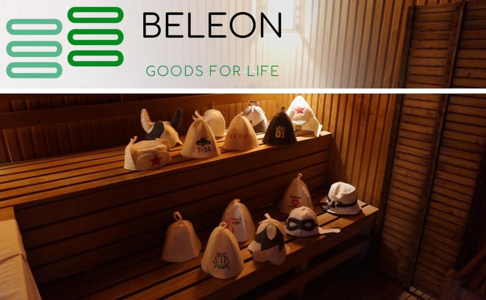 beleon sauna hat goods for life