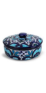 turquoise tortilla warmer ceramic talavera
