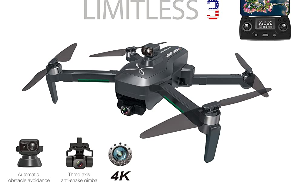 LIMITLESS 3 drone with Obstacle Avoidance
