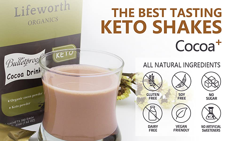 The best tasting keto shakes, MCT powder, virgin coconut oil powder, Organic Coffee, dietary fiber