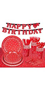 16 Guests Cowboy Birthday Party Supplies B08N437T11