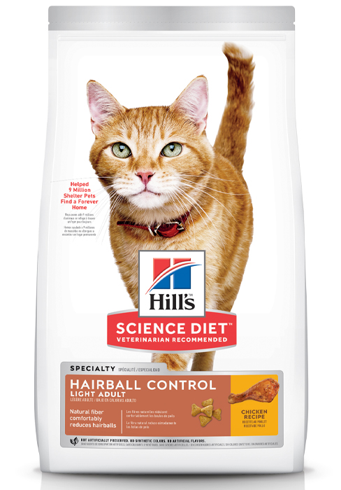 Adult, Light, Hairball Control, Dry Cat Food