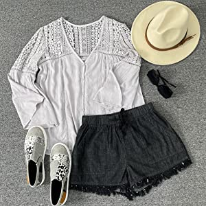 loose short loose summer shorts casual jeans short for juniors