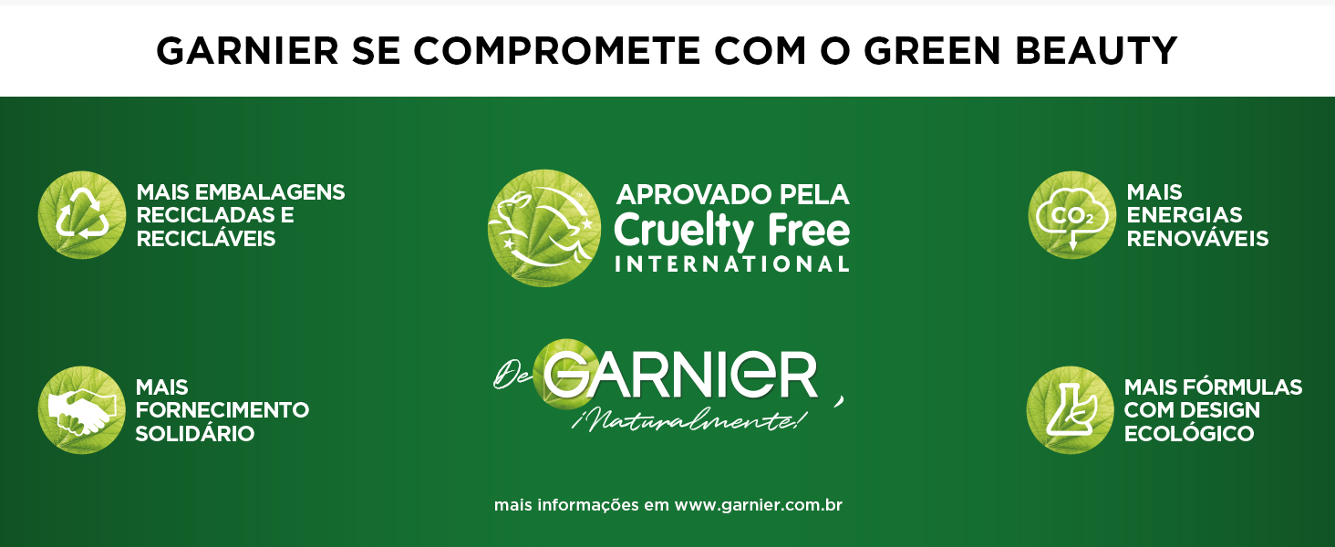 Garnier se compromete com o GREEN BEAUTY