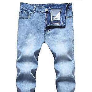 Men's Skinny Slim Fit Ripped Distressed Stretch Jeans