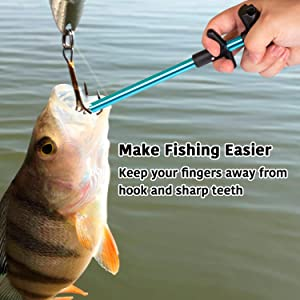 keep your fingers away from hook and sharp teeth