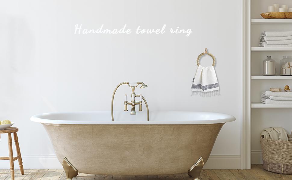 wooden towel racks for bathroom