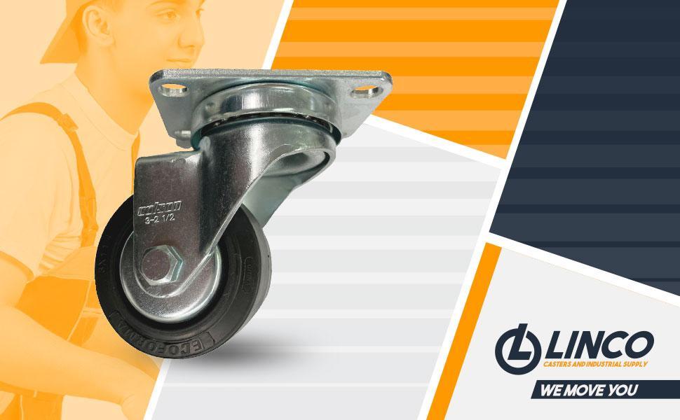 Linco 3 inch Black TPR Wheels Rubber