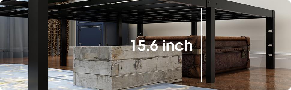 45MinST 18 Inch Mattress Foundation with under bed storage