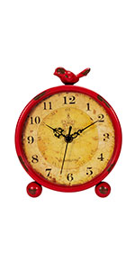Red Table Clock