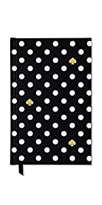 kate spade new york, lined writing journal, polka dot