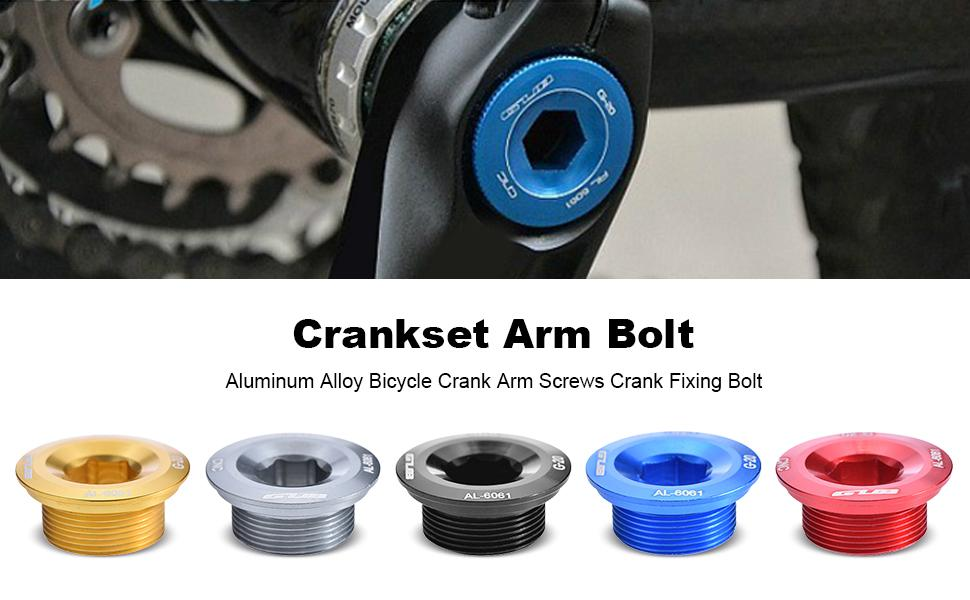 Blue Aluminum Crankset Crank Arm Screws Fixing Bolt M20 for MTB Bike Bicycle