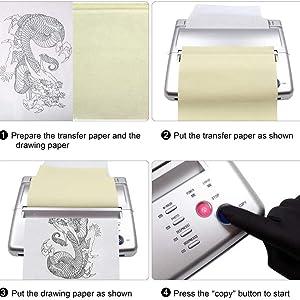Tattoo Transfer Copier Printer