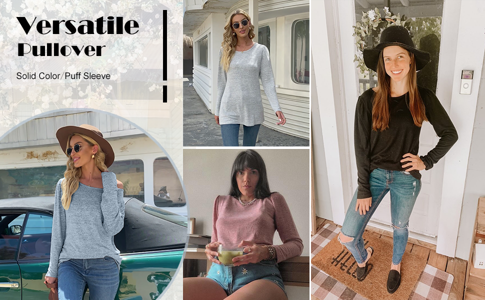 Womens tops long sleeve casual dressy