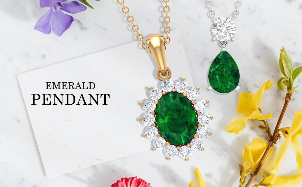 Emerald Pendants