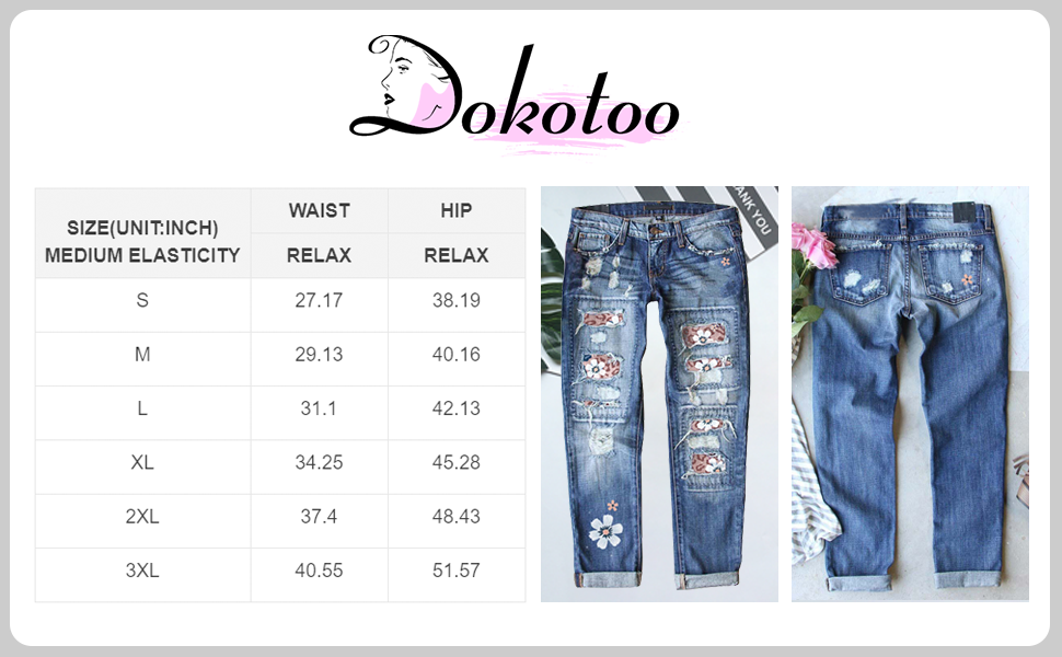 Jeans for Women High Waist Skinny Destroyed Ripped Hole Denim Pants Long Stretch Pencil Jeans