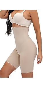 fortix high waist women tummy control thigh slimmer body shaper short