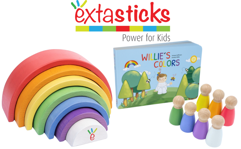 wooden rainbow set with peg dolls and book stacker nesting toy stacking toys educational learning