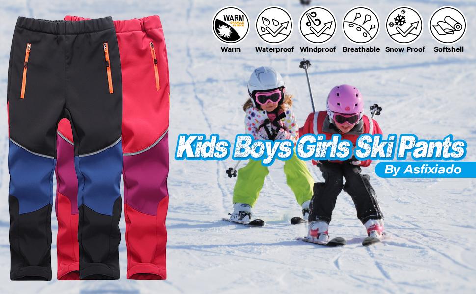 kids snow pants boys snow pants boys ski pants boys lined pants indproof fleece hiking pants
