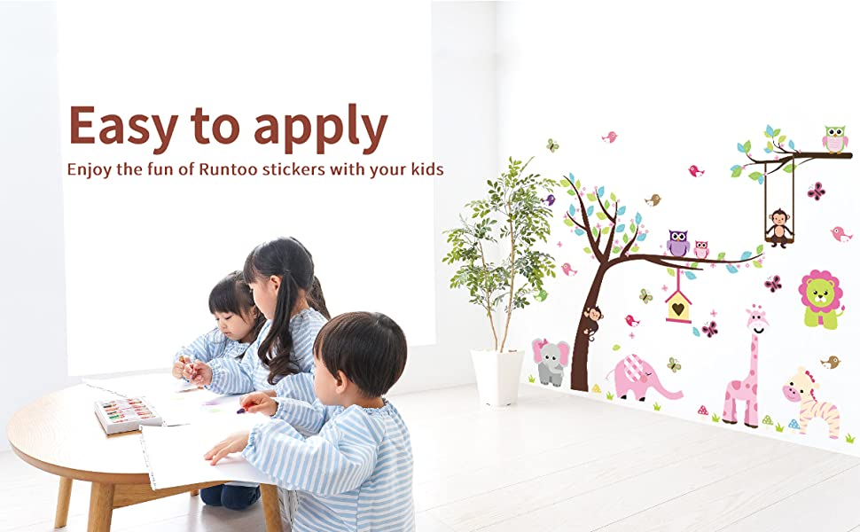 easy to apply peel and stick have decorate fun with your kids