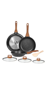 3 Skillets with Lid