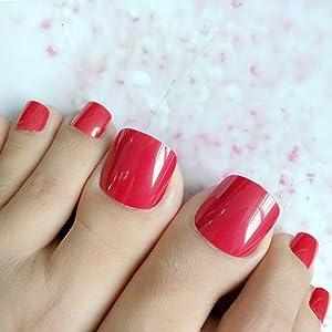 Red toenails