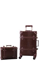 Brown alligator suitcase