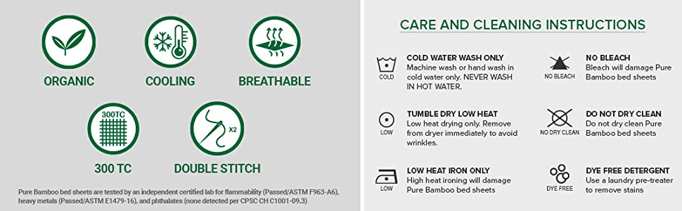 Pure Bamboo Sheets Care Instructions