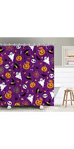 purple  shower curtain
