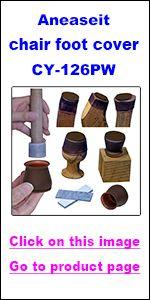 CY-126PW-hyperlink, Felt bottom silicone furniture foot cover kit