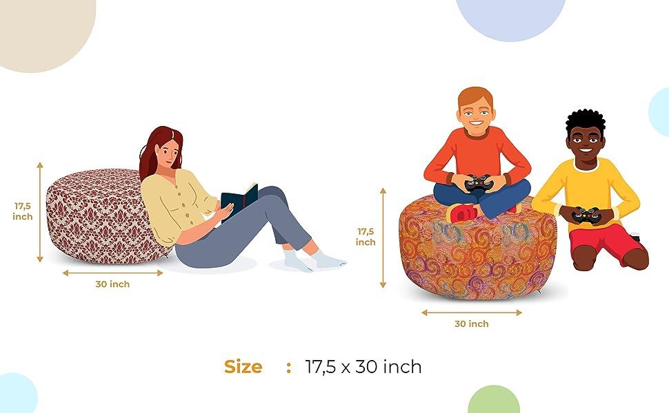 Pouf measurements