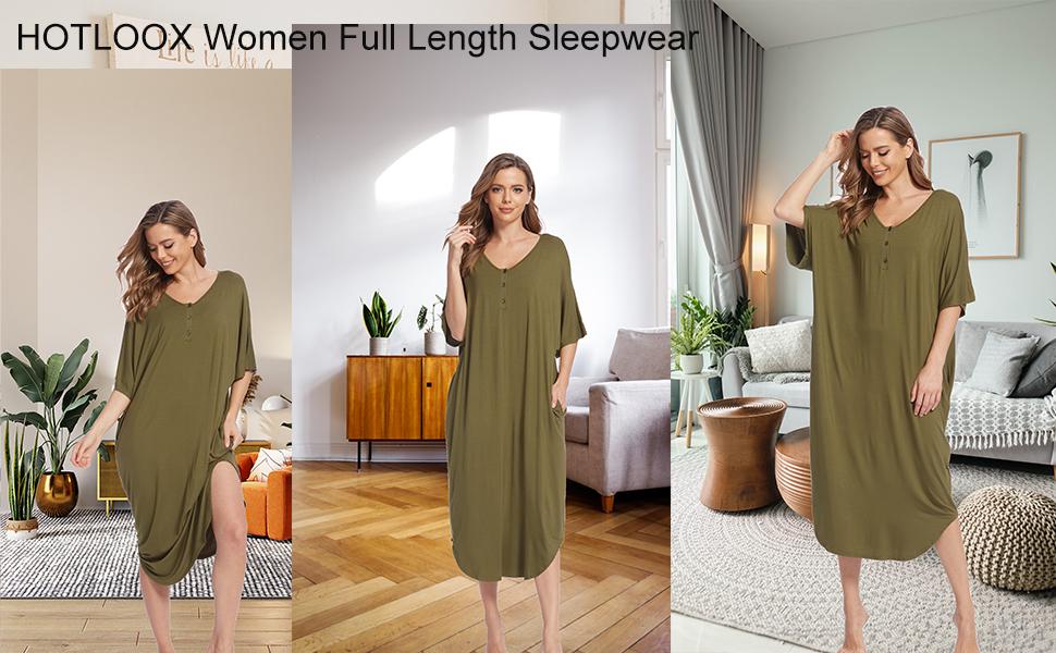 women long nightgowns