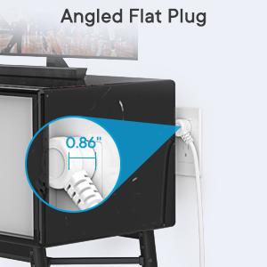 power strip with flat plug