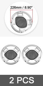 4pcs 8'' Car Audio Speaker Cover Mesh Subwoofer Grill Horn Guard Protector