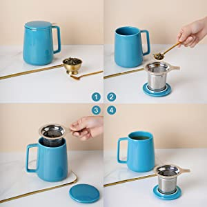 tea infuser mug with lid
