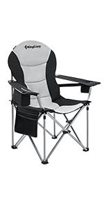 KingCamp Folding Camping Chair Oversized Porable Fully Padded Chair with Lumbar Back Support