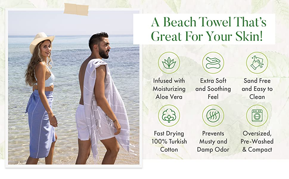A Beach Towel That's Great For Your Skin!