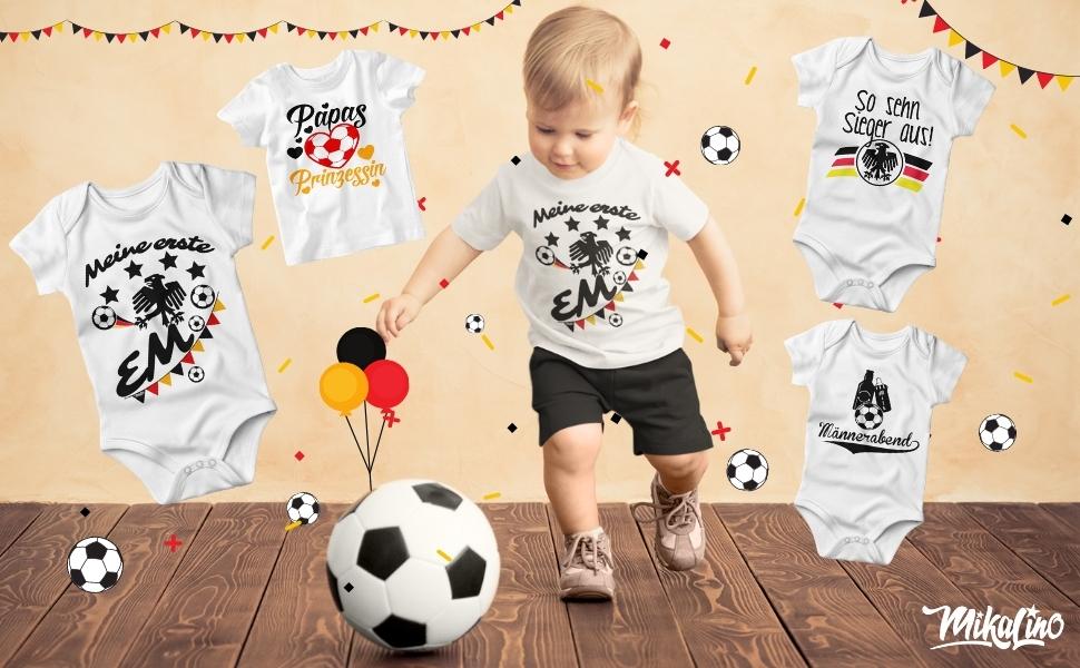 Em Europameisterschaft Baby Kind T-Shirt Babybodie Druck Trikot Fan Deutschland