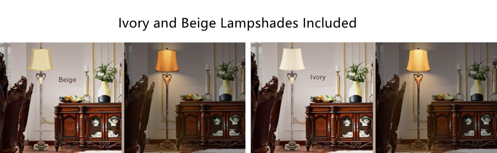 2 lampshades for floor lamp