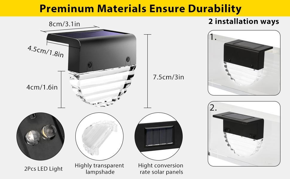 Solar Powered Deck Light