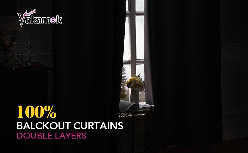 100% blackout curtains