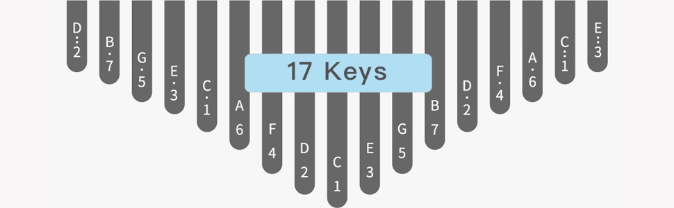 17 keys kalimba