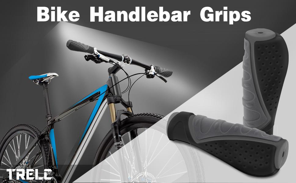 Details about  /Black Bike Handlebar Grips 2Pcs Anti-slip Bicycle Cycling MTB Set Gift